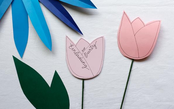Tulpen-Party-Einladung |we love handmade