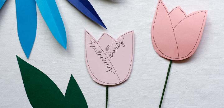 DIY: Tulpen-Party-Einladung