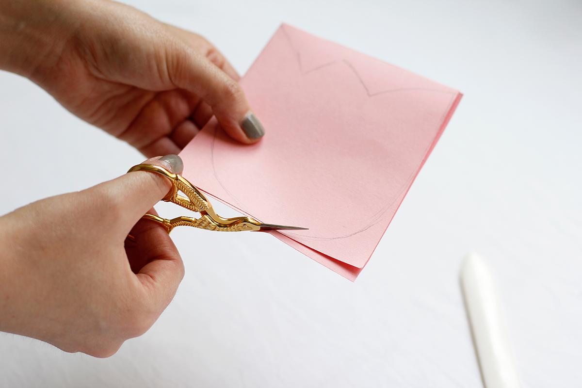 Tulpen-Einladung ausschneiden |we love handmade