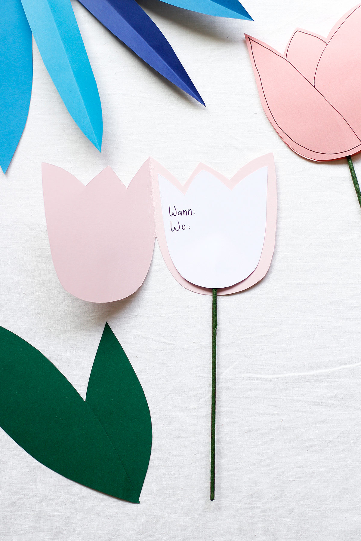 Tulpen-Party-Einladung | we love handmade