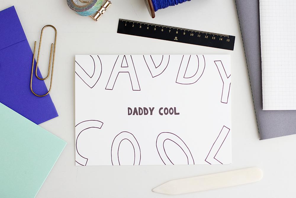 Download Vatertagskarte Daddy Cool We Love Handmade