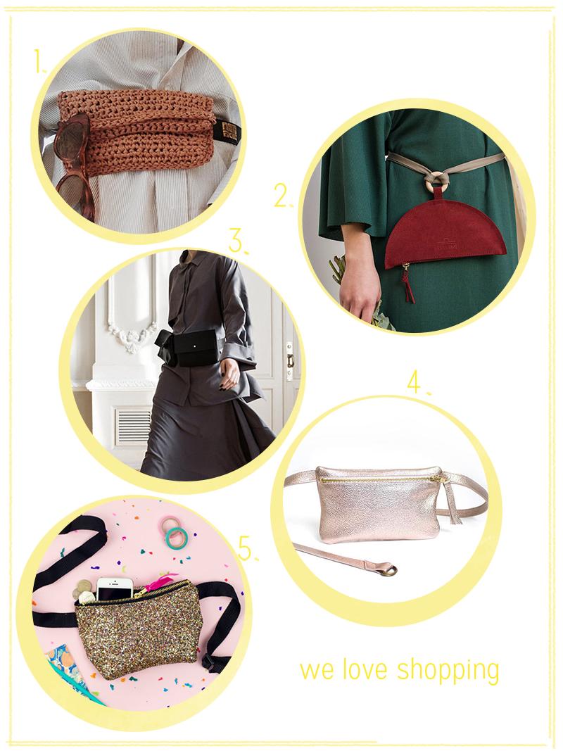 we love Shopping: Bauchtaschen  we love handmade