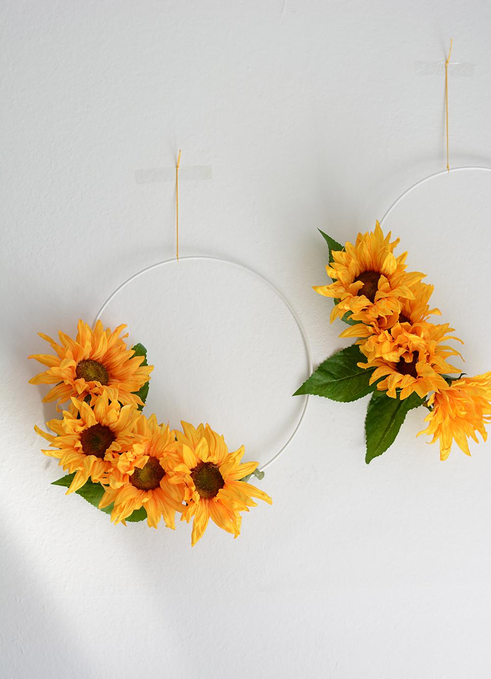 Blumenkranz aus Sonnenblumen: DIY | we love handmade