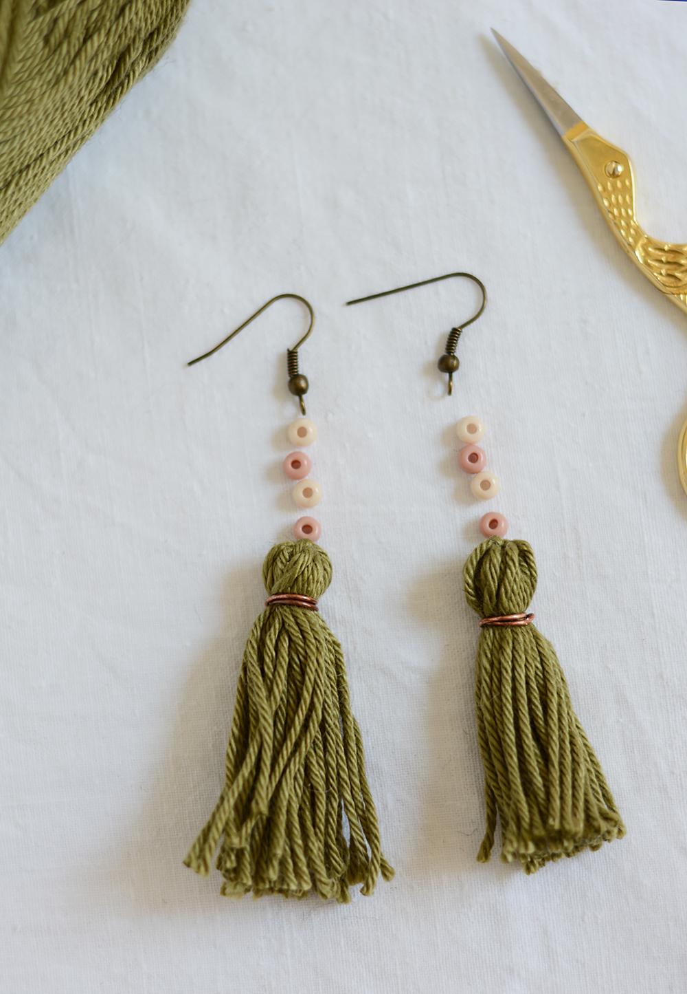 Ohrringe mit Tassels: DIY | we love handmade