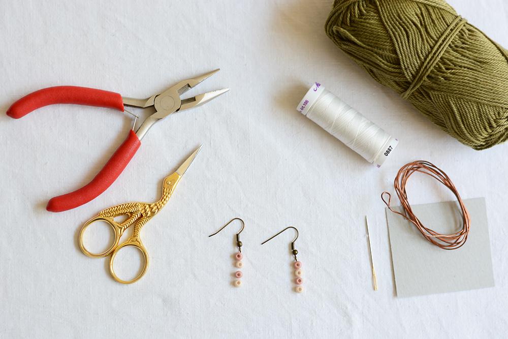 Tassel-Ohrringe: Material | we love handmade