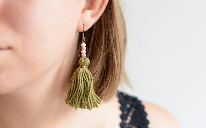 Tassel-Ohrringe | we love handmade