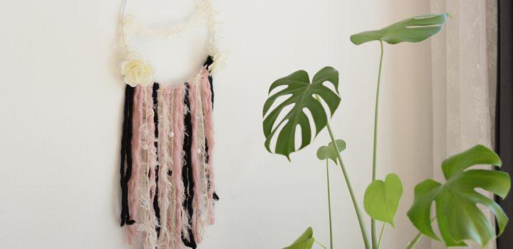 DIY: Wanddekoration mit Wolle