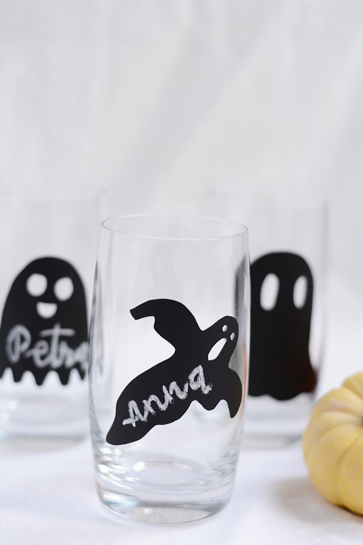 Halloween: Geister-Glasmarkierung für Party   we love handmade