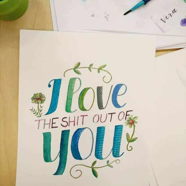 Hand Lettering Artwork: Workshop | we love handmade