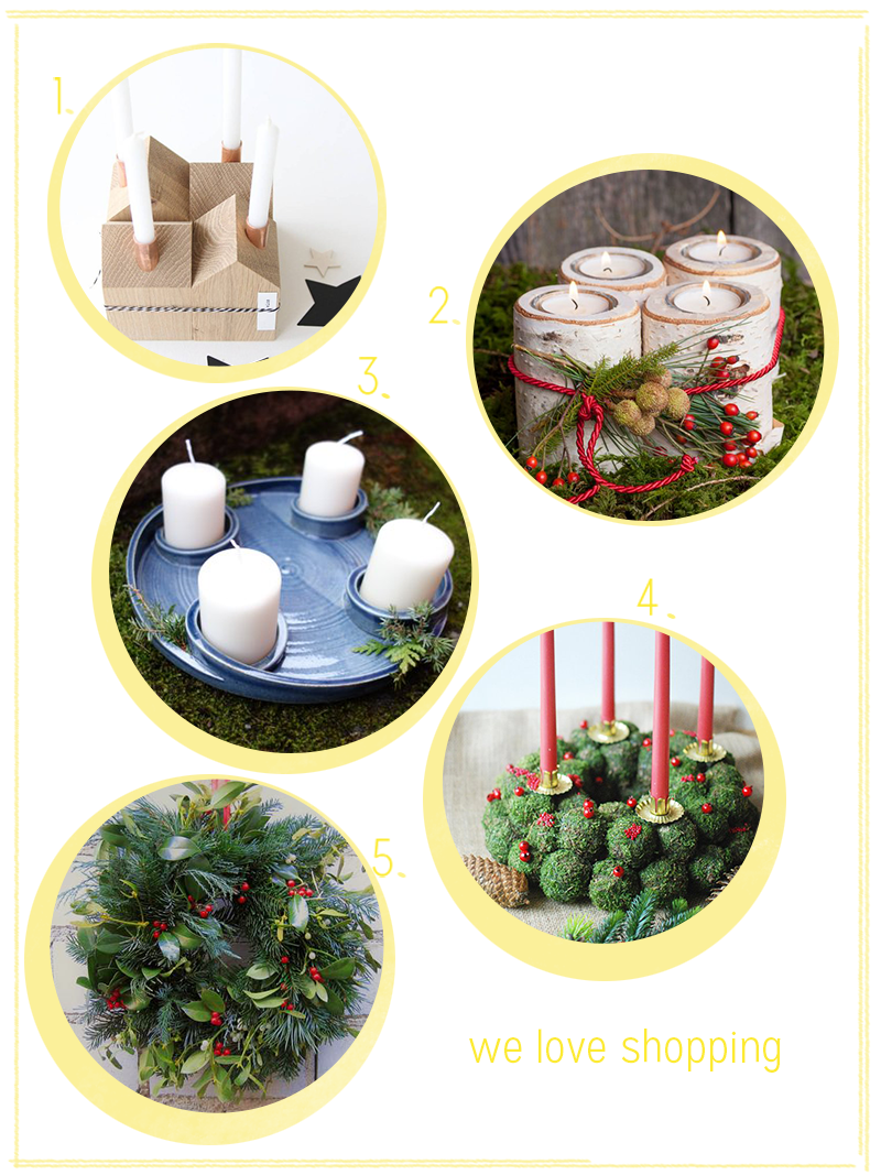 Shopping: Adventskränze | we love handmade