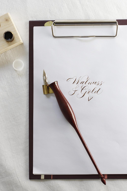 Walnuss-Glitzer-Tinte: DIY | we love handmade