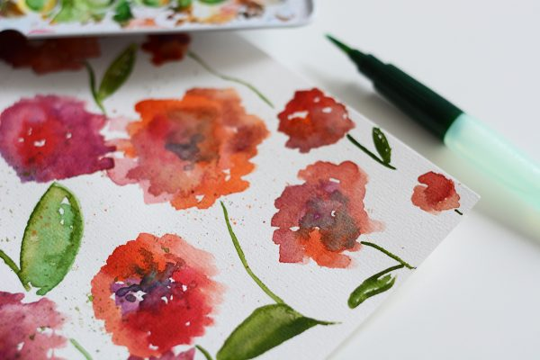 Aquarellmalerei DIY-Workshop Wien - Mohnblumen | we love handmade
