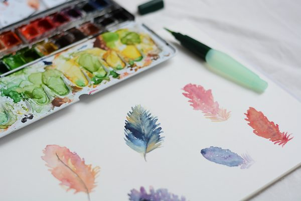 Aquarellmalerei-Workshop-´: Federn zeichnen | we love handmade