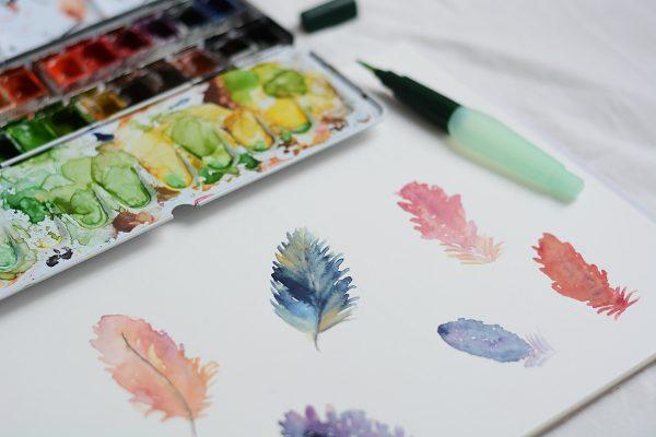Aquarellmalerei-Workshop-´: Federn zeichnen | we love handmade