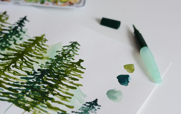 Aquarellmalerei-Workshop Wald | we love handmade