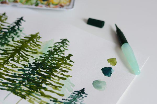Aquarellmalerei-Workshop Wald | we love handmade