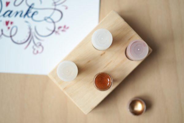Dinky-Dip-Halter aus Holz mit Pigmenten |we love handmade