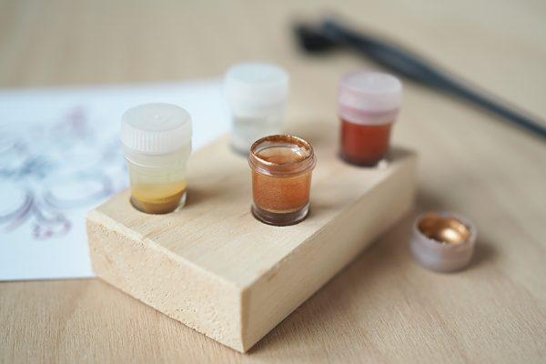 Dinky-Dip-Halter mit Pigmenten |we love handmade