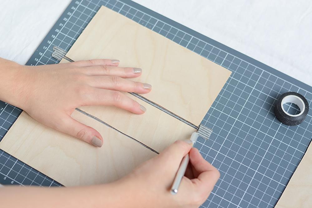 Holzvase mit Washi Tape | we love handmade