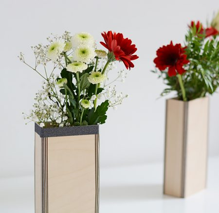 DIY: Schnelle Holzvase