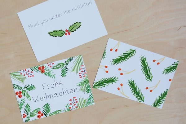 Illustierte Weihnachtskarten-Set | we love handmade