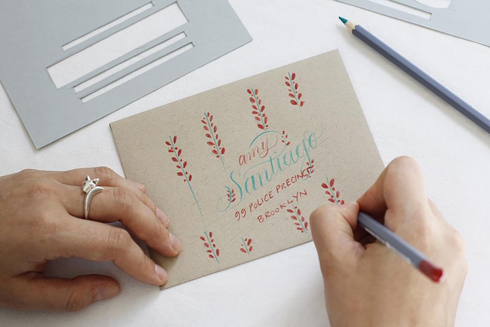 Kalligraphie-DIY: Kuvert-Gestaltung | we love handmade