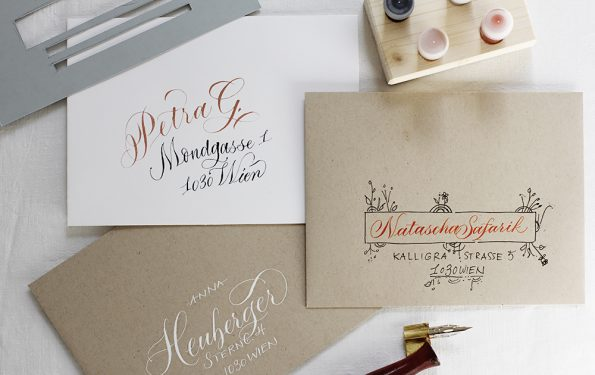 Kalligraphie-DIY: Kuverts-kreativ-beschriften | we love handmade