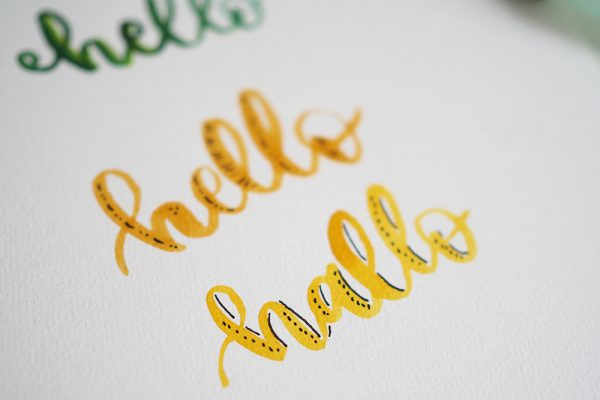 Advanced Lettering | we love handmade