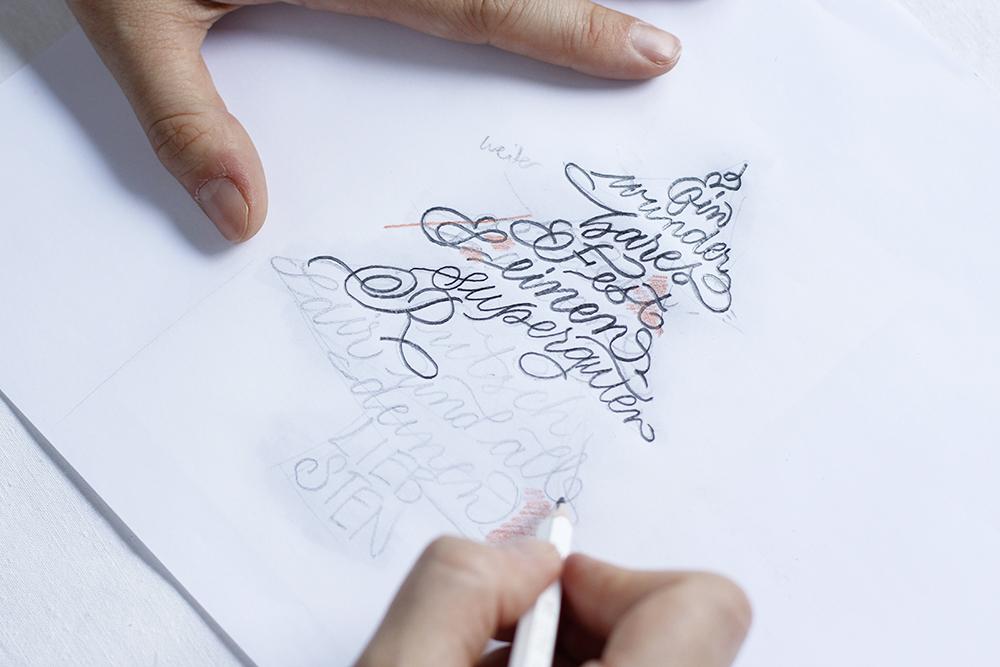 DIY: hangeschriebene Weihnachtskarte | we love handmade