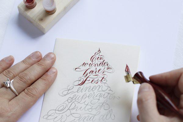 Kalligraphie-Karte: DIY   we love handmade