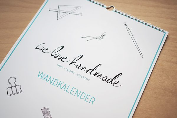 Wandkalender A3 | we love handmade