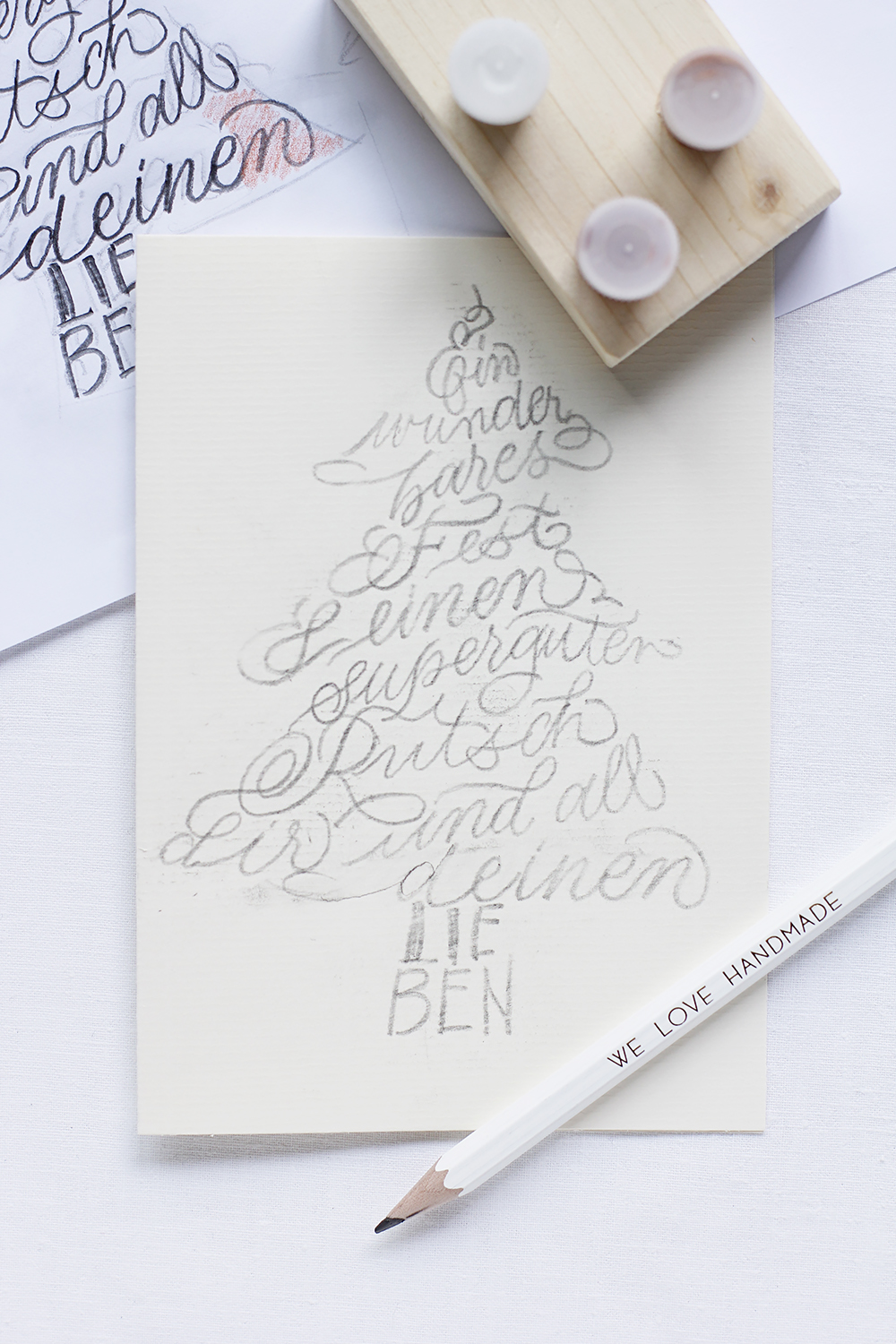 Weihnachtskarte Lettering-DIY | we love handmade