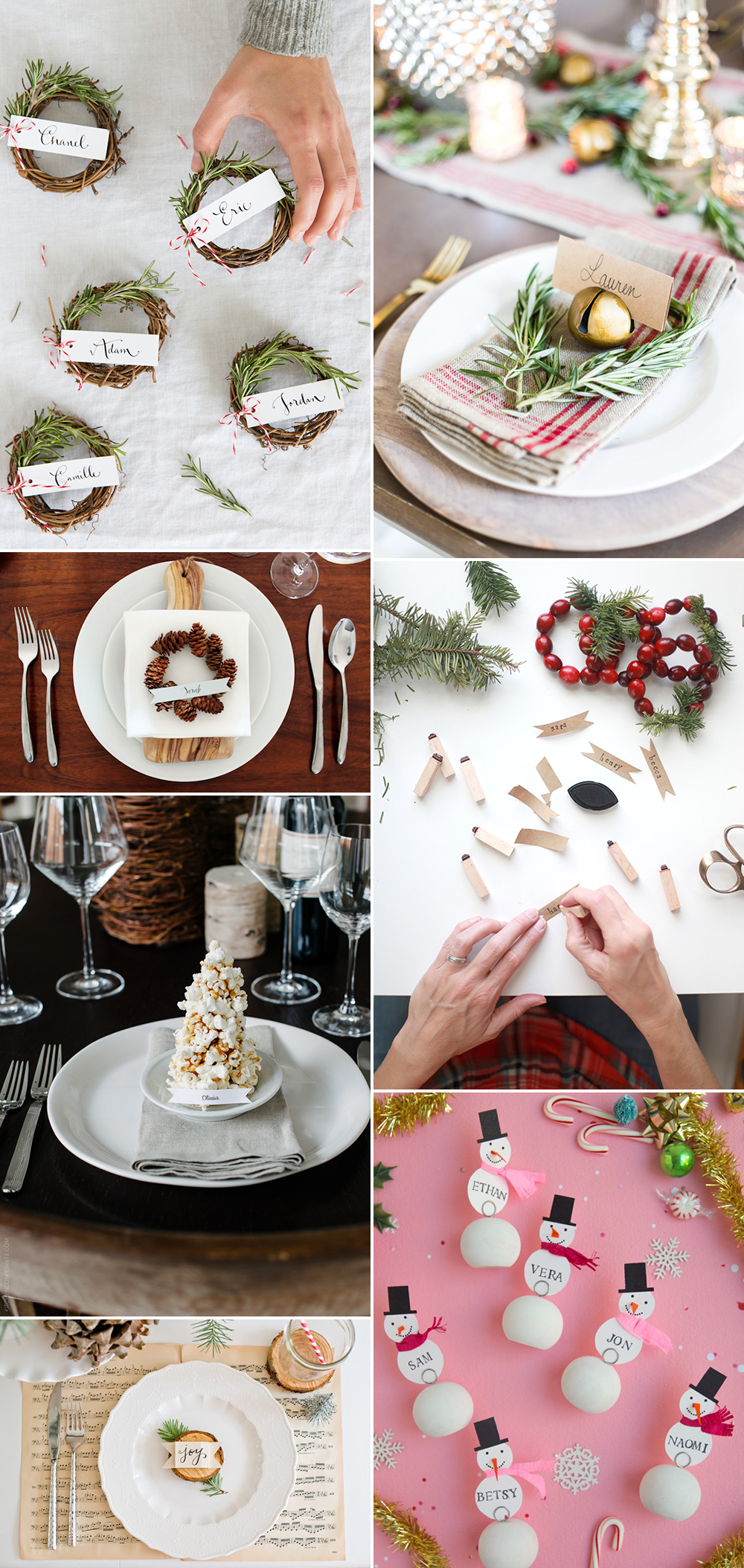 we love Inspiration: Winterliche Tischkarten | we love handmade