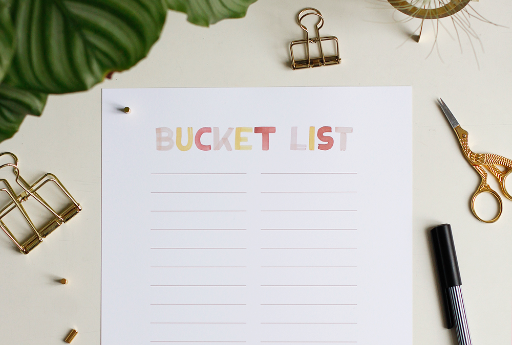 Freebie: Bucket List | we love handmade