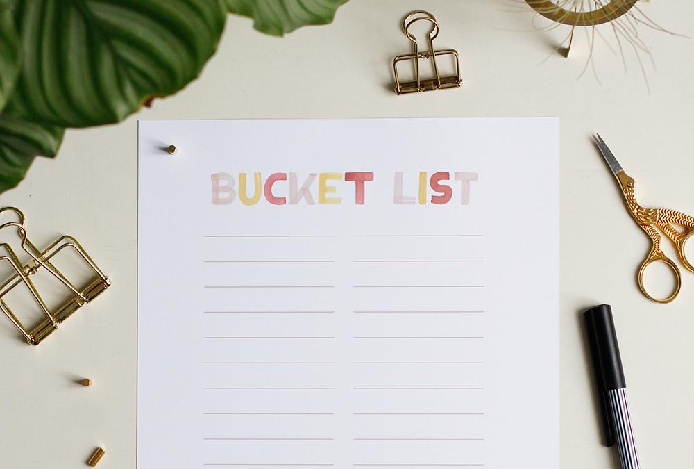 Freebie: Bucket List | we love handmade