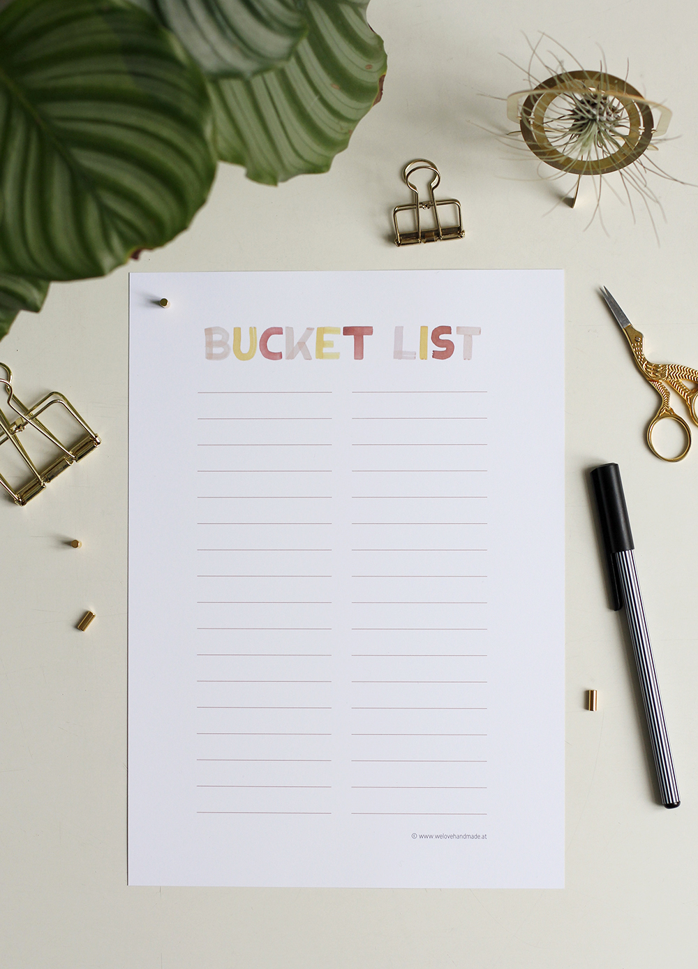 Bucket List Freebie | we love handmade