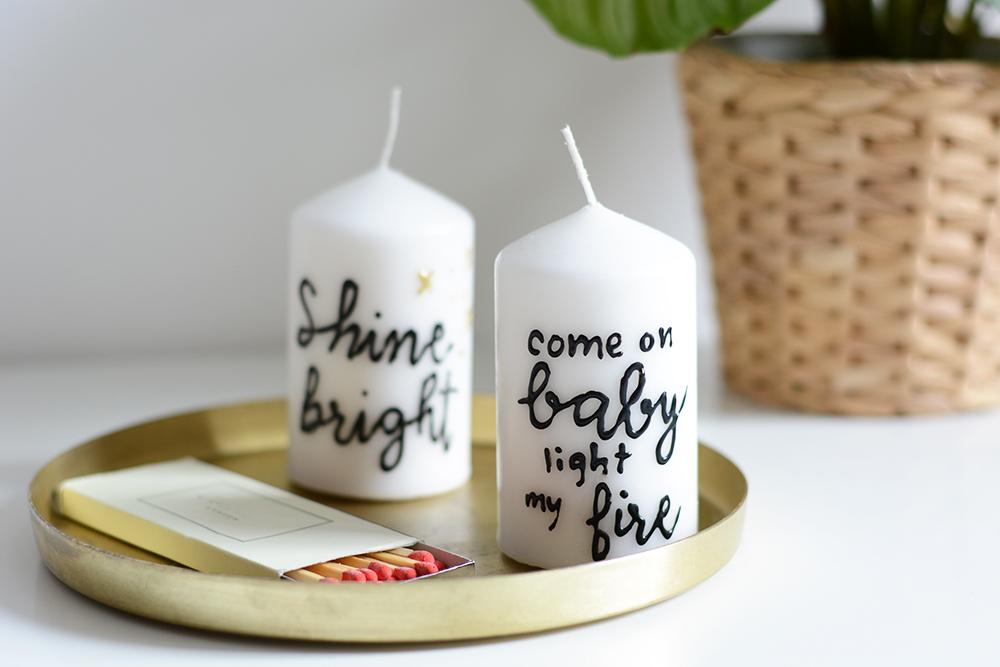 Kerzen Lettering | we love handmade