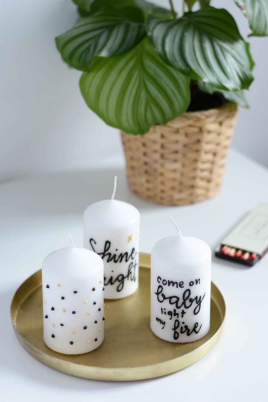 Lettering-DIY: Kerzen beschriften | we love handmade