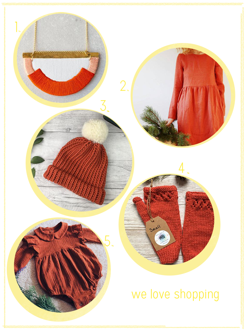 we love shopping: Trendfarbe Burnt Orange | we love handmade