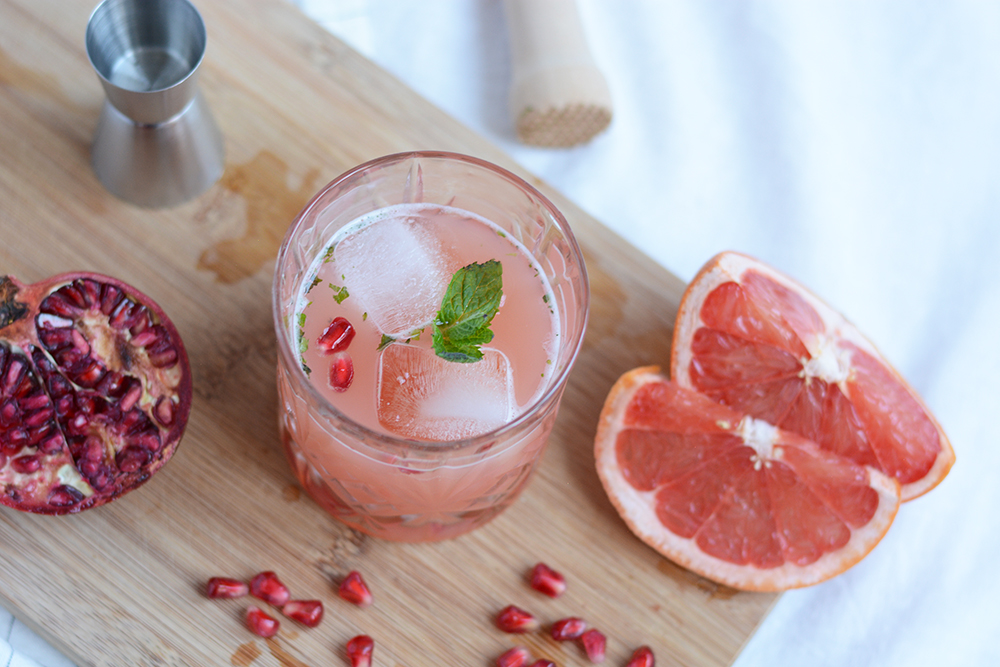 Granatapfel-Grapefruit-Cocktail selber machen | we love handmade