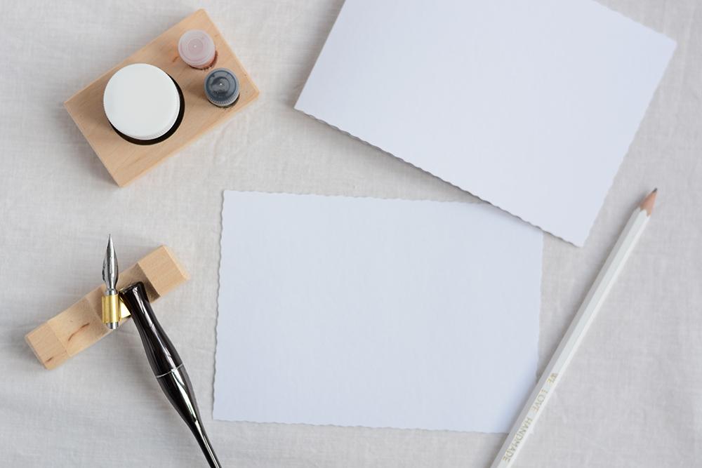 Kalligraphie-Valentinstagskarten: Material | we love handmade