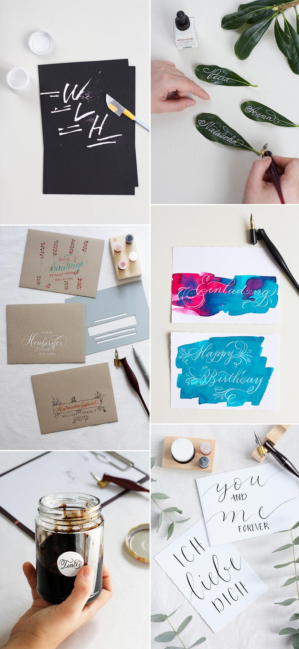 Kalligraphie-DIYs | we love handmade