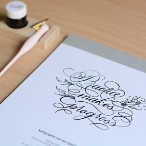 Kalligraphie Übungsblock |we love handmade