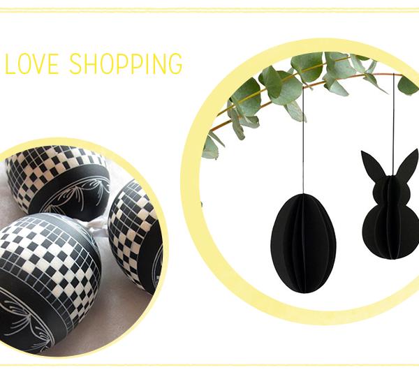 we love shopping: Oster-Deko Minimalistisch