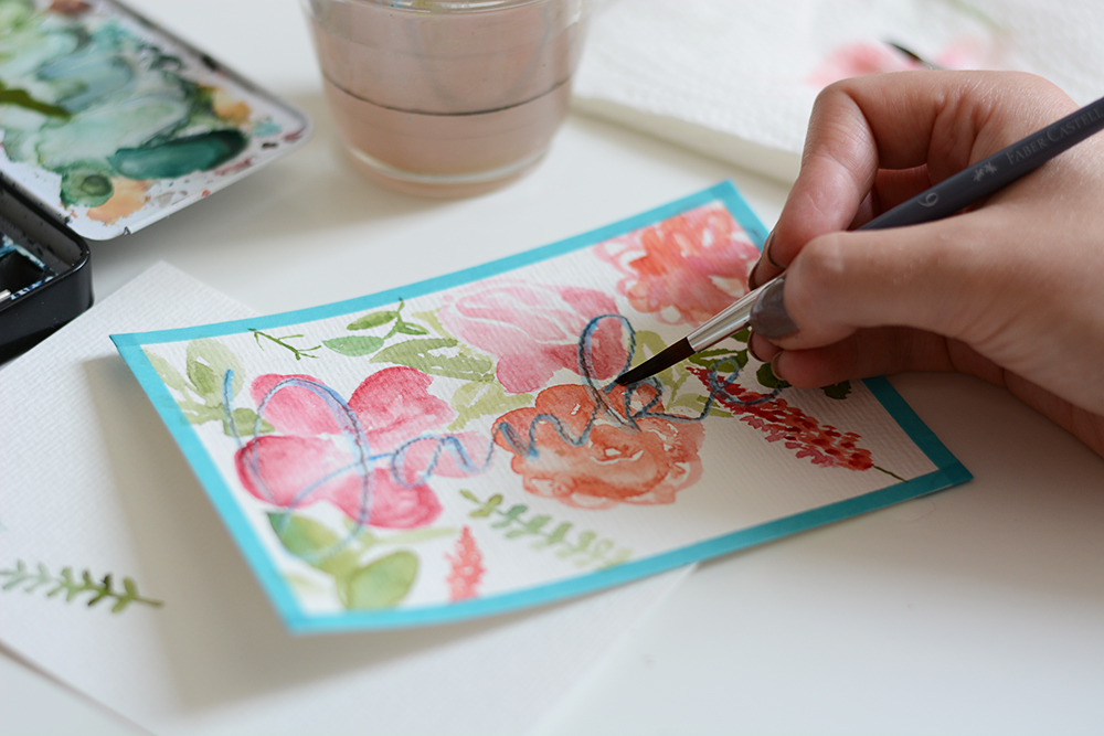 Aquarell-DIY: Muttertag | we love handmade