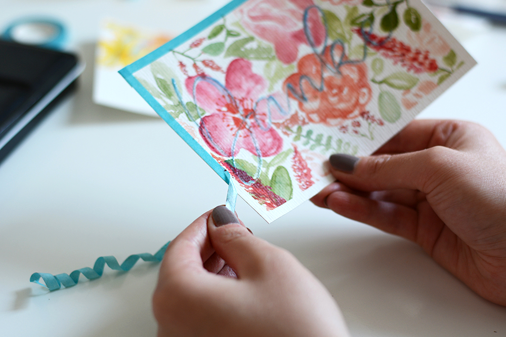 DIY: Aquarellkarte für Muttertag | we love handmade