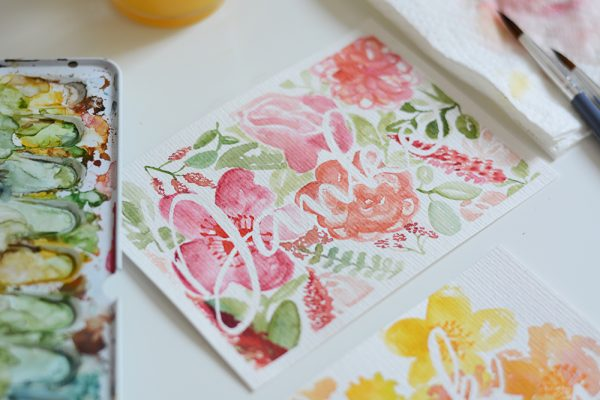 DIY: Muttertagskarte mit Aquarellmalei | we love handmade