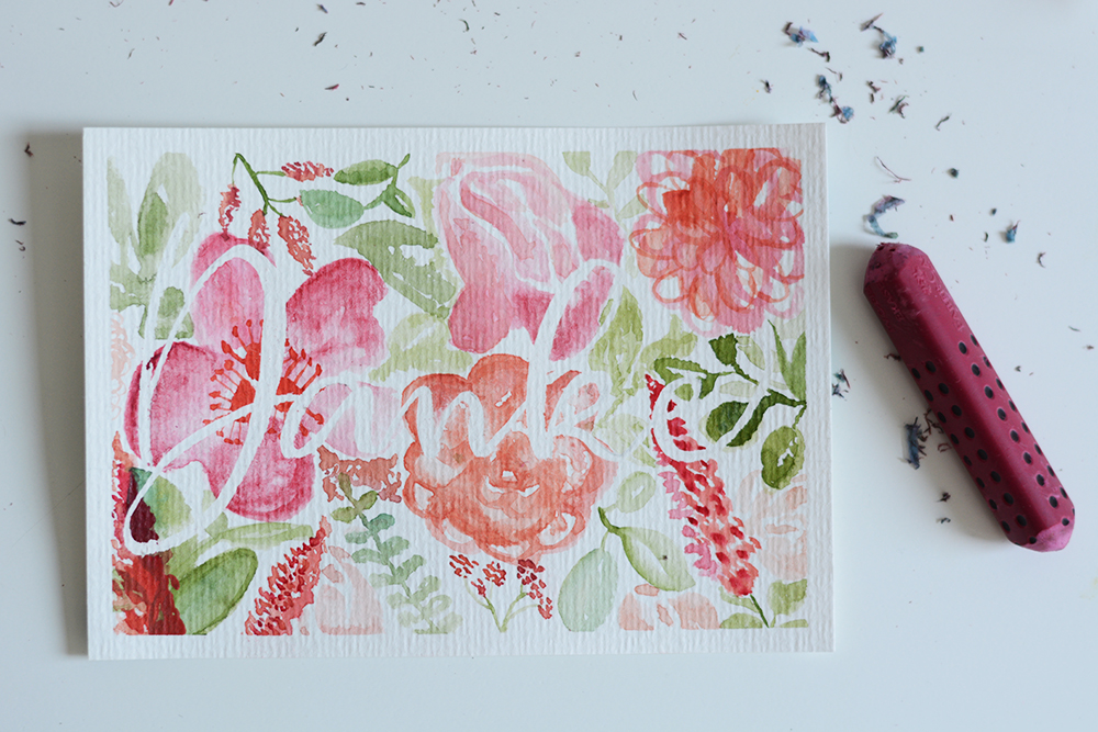 DIY: florale Aquarellmalerei | we love handmade