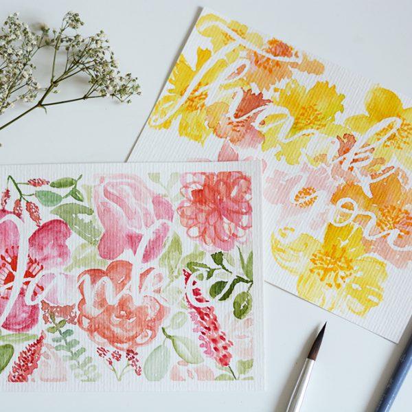 Muttertagskarten: Aquarell-DIY | we love handmade
