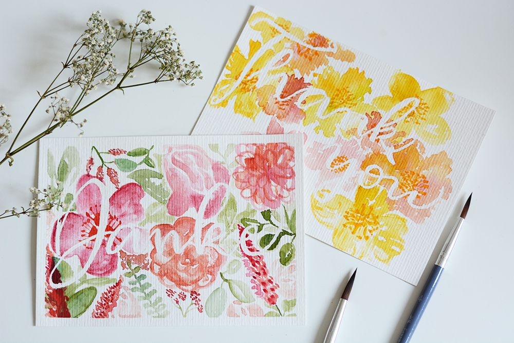 Muttertagskarten: Aquarell-DIY | we love handmade